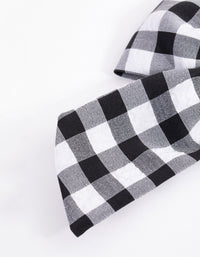 Gingham Long Bow Hair Tie - link has visual effect only