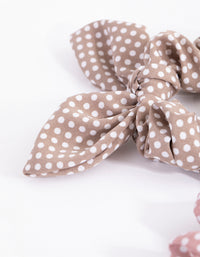 Spotty Bunny Ear Scrunchie 3-Pack - link has visual effect only