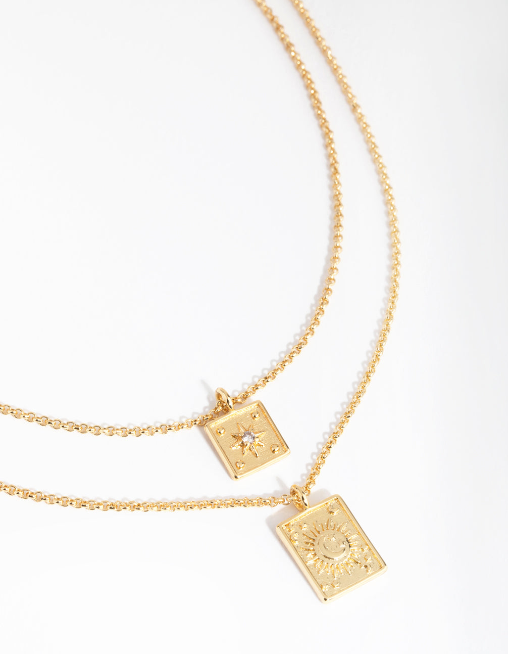 18ct Gold Plated Mix Card Necklace Set