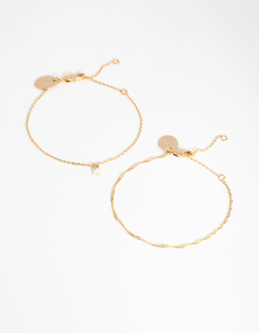 18ct Gold Plated June Pearl Bracelet Set