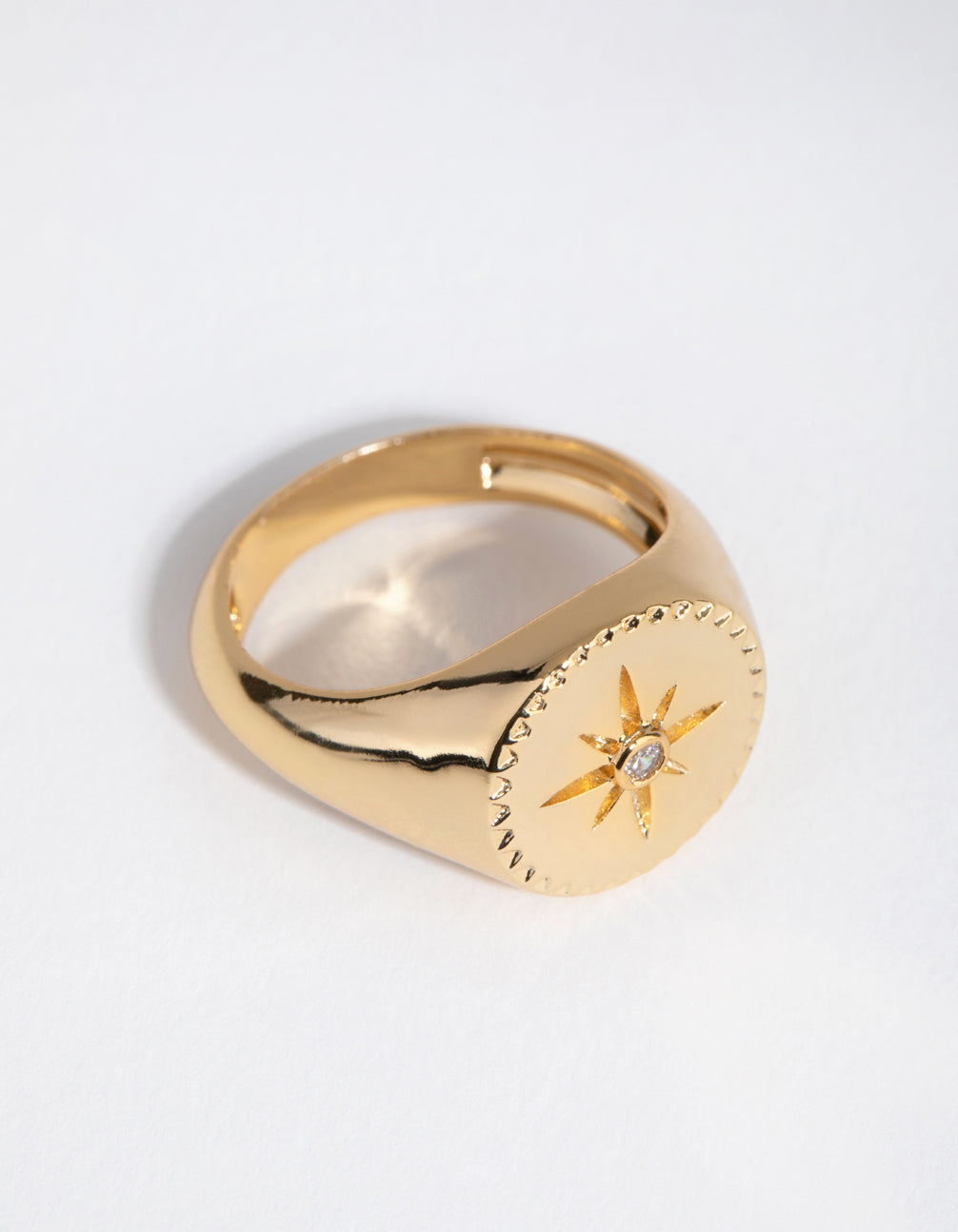 18ct Gold Plated Cubic Zirconia Starlet Ring
