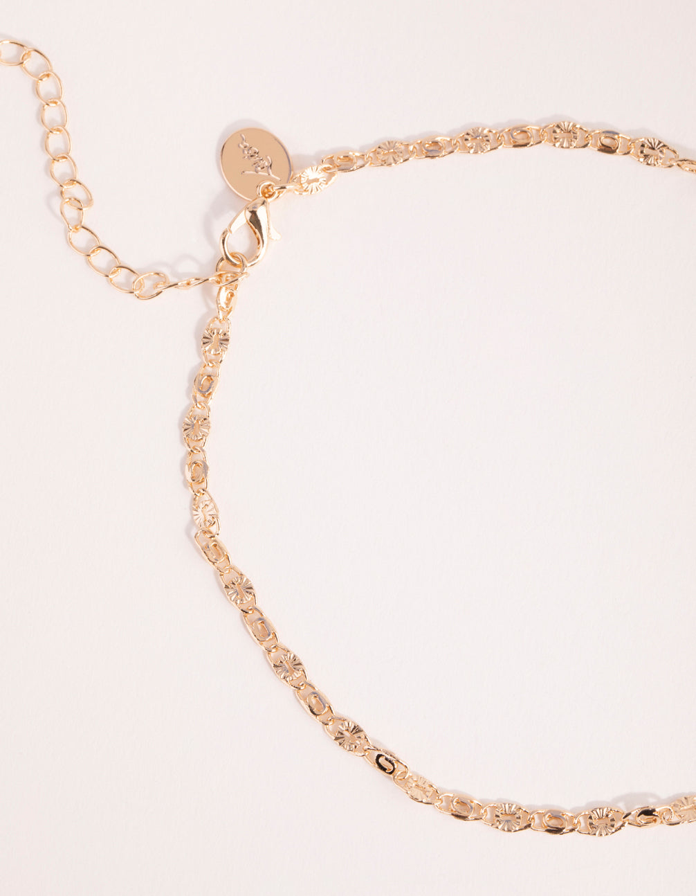 Gold Textured Choker Necklace