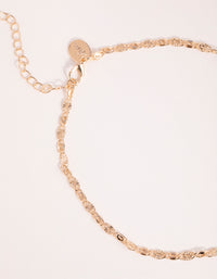 Gold Textured Choker Necklace - link has visual effect only