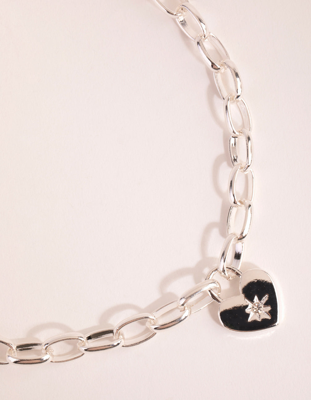 Silver Chain and Heart Necklace