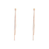 Rose Gold Cup Chain Drop Earring