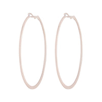 Rose Gold Flat Edged Hoop Earring - link has visual effect only