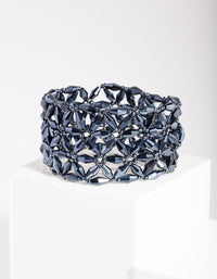 Blue Facet Flower Bracelet - link has visual effect only