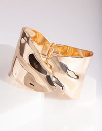 Gold Warped Wrap Cuff - link has visual effect only