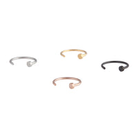 Mixed Metal Mini Nail Nose Ring 4 Pack - link has visual effect only