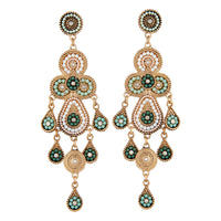 Mint and White Seed bead Drop Earring - link has visual effect only