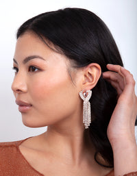 Rose Gold Pink Diamante Earring - link has visual effect only