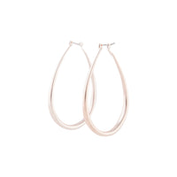 Rose Gold Rounded Teardrop Hoop - link has visual effect only