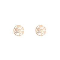 Gold Tree Of Life Stud Earrings - link has visual effect only