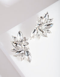 Diamante Fan Stud Earrings - link has visual effect only