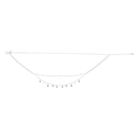 Silver Layered Disc Station Chain Choker