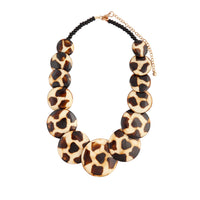 Brown Beige Wood Disc Necklace - link has visual effect only