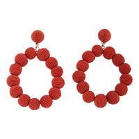 Terracotta Bead Wrap Earring