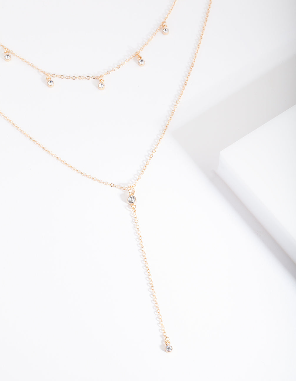 Gold Diamante Multi Necklace