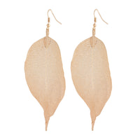 Gold Natural Leaf Earring - link has visual effect only
