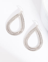 Silver Textured Teardrop Earring - link has visual effect only