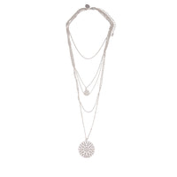 Multi Row Delicate Silver Filigree Choker - link has visual effect only