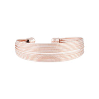 Rose Gold Multi Row Diamond Cut Cuff - link has visual effect only