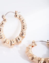 Gold Mini Bamboo Hoop Earring - link has visual effect only