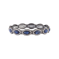 Midnight Blue Gunmetal Evil Eye Stretch Bracelet - link has visual effect only