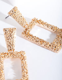 Gold Mini Rhombus Earring