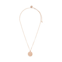 Rose Gold Diamante Disc Filigree Necklace - link has visual effect only