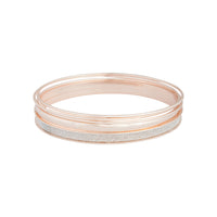 Rose Gold Glitter Matte Bangle 5 Pack