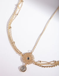 Gold Filigree Diamante Headchain - link has visual effect only