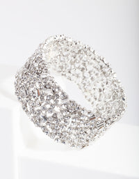 Rhodium Gem Embellished Bracelet