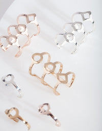 Mixed Metal Multi Ear Cuff Pack