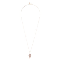 Rose Gold Glitter And Cut Out Leaf Pendant Necklace - link has visual effect only