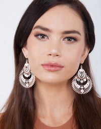 Rose Gold Diamante Bohemian Earring - link has visual effect only