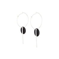 Black Spike and Matte Disc Earring - link has visual effect only