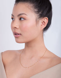 Gold Plated Box Chain Necklace