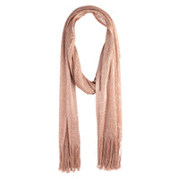 Rose Gold Long Crochet Scarf - link has visual effect only