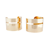 Gold Double Polished Cuff - link has visual effect only