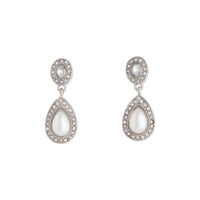 Rhodium Mini Angelina Drop Earring - link has visual effect only