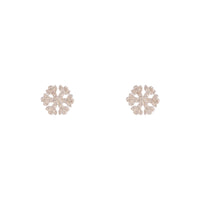 Sterling Silver Diamante Snowflake Stud Earring - link has visual effect only