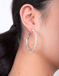 Silver Diamante Multi Hoop Earring Pack - link has visual effect only