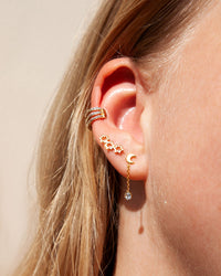 Gold Plated Sterling Silver 3 Star Crawler Earring - link has visual effect only