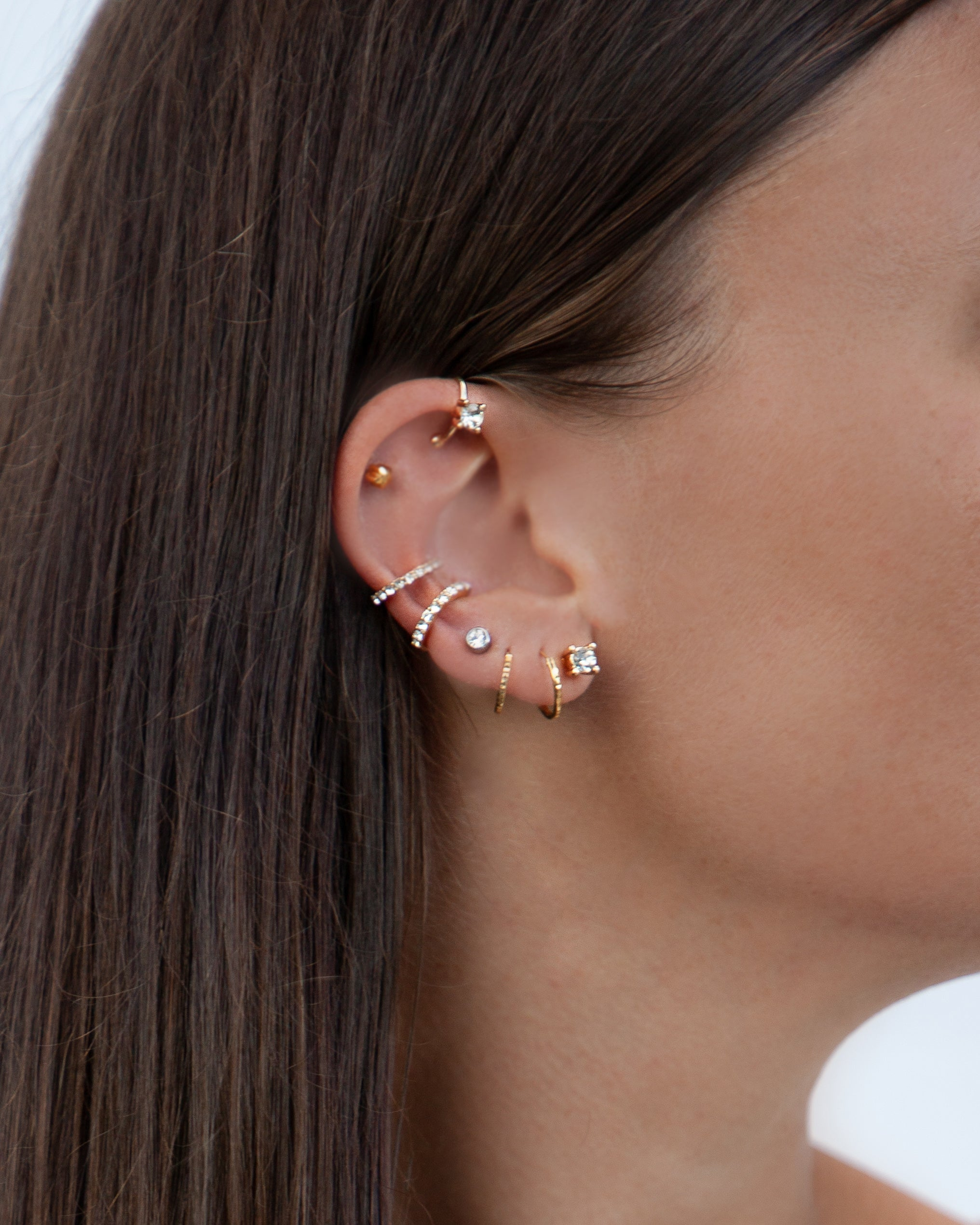 Gold Diamante Cuff Ear Pack