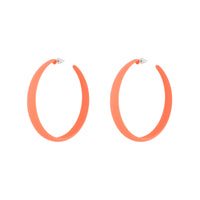 Pink Neon 3/4 Hoop Earring - link has visual effect only