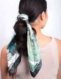 Green Tropical Leaf Scarf - link has visual effect only