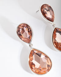 Rose Gold Classic Teardrop Earring - link has visual effect only