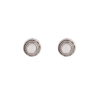 Antique Silver Diamante Centre Etched Earring - link has visual effect only