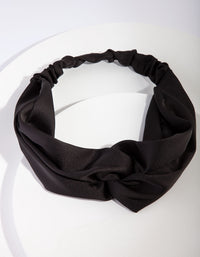 Black Satin Stretch Headband - link has visual effect only